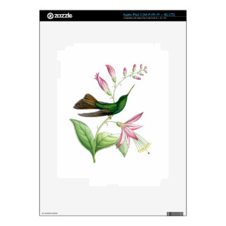 Hummingbirds Birds Flowers Floral Wildlife Animals iPad 3 Decal