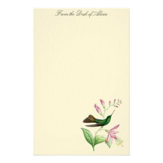 Hummingbirds Birds Flowers Floral Wildlife Animals Stationery