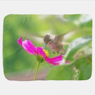 Hummingbirds Birds Flowers Floral Wildlife Animals Swaddle Blanket