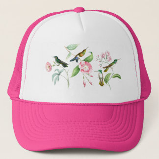 Hummingbirds Birds Flowers Floral Wildlife Animals Trucker Hat