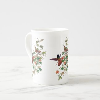 Hummingbirds Bone China Tea Mug