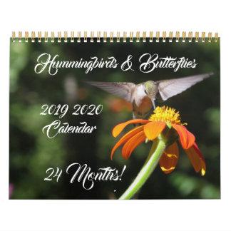 Hummingbirds & Butterflies 2019 2020 Calendar