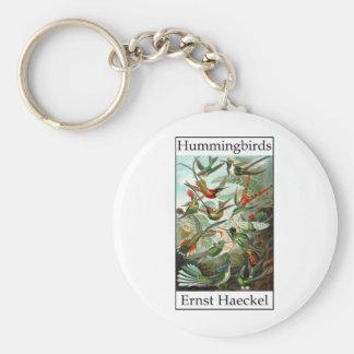 Hummingbirds by Ernst Haeckel Keychain