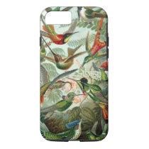 Hummingbirds by Ernst Haeckel, Vintage Birds Trees iPhone 8/7 Case