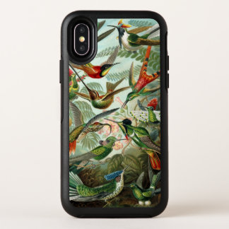 Hummingbirds by Ernst Haeckel, Vintage Birds Trees OtterBox Symmetry iPhone X Case