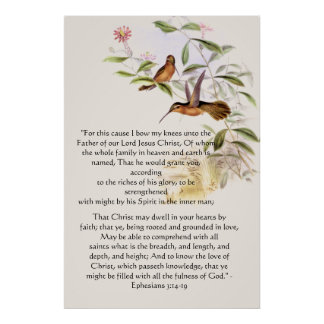 Hummingbirds Ephesians 3 Print