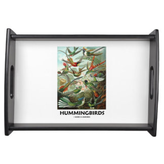 Hummingbirds Ernest Haeckel Artforms Of Nature Serving Tray
