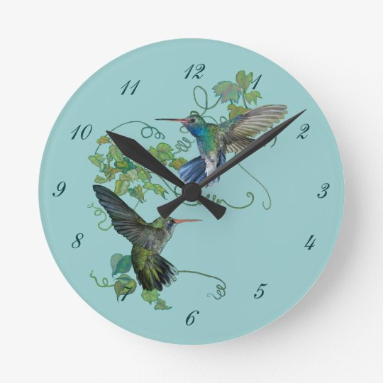 Hummingbirds Flight Round Clock