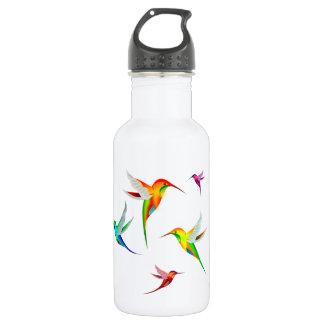 Hummingbirds Flock Cute - Colorful Bird Watching Water Bottle
