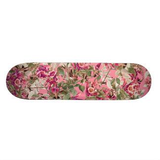 Hummingbirds Floral Audubon Flowers Skateboard