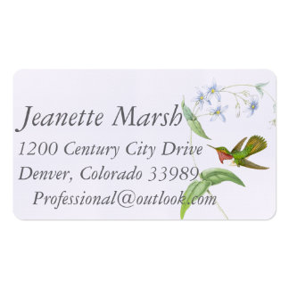 Hummingbirds Floral Business Cards