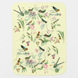 Hummingbirds & Flowers Baby Blanket