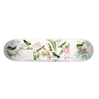 Hummingbirds Flowers Birds Wildlife Animals Floral Skateboard Deck