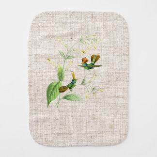 Hummingbirds & Flowers Burp Cloth