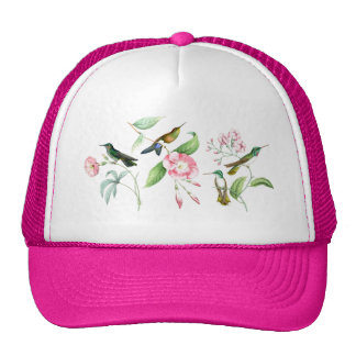 Hummingbirds & Flowers Hat