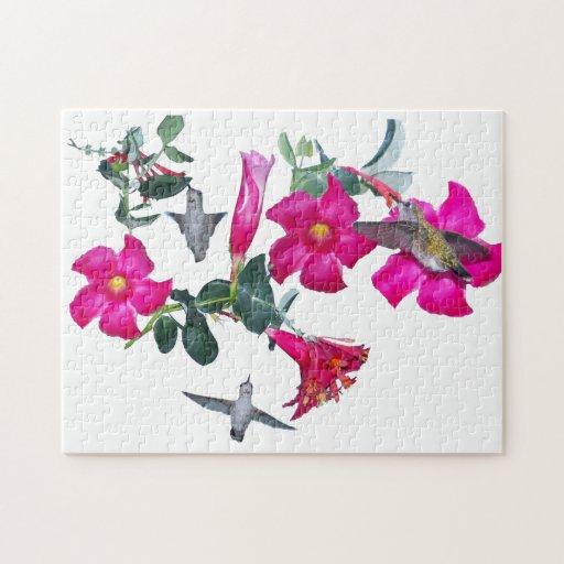 Hummingbirds & Flowers Puzzle