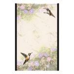 Hummingbirds & Flowers Stationery