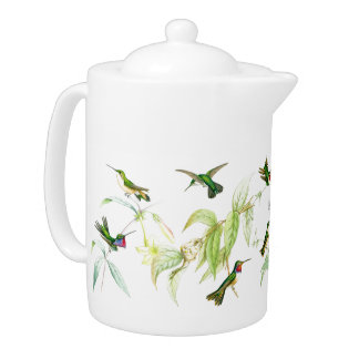 Hummingbirds & Flowers Teapot