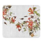 Hummingbirds Glass Cutting Board