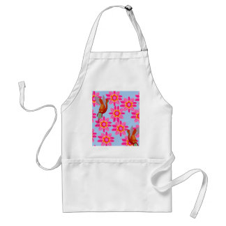 Hummingbirds in a field of flowers adult apron