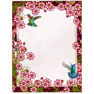 Hummingbirds in Coreopsis Flowers Dry Erase Board
