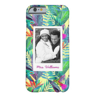 Hummingbirds In Jungle | Add Your Photo & Name Barely There iPhone 6 Case