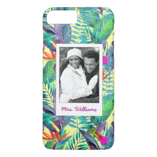 Hummingbirds In Jungle | Add Your Photo & Name iPhone 7 Plus Case