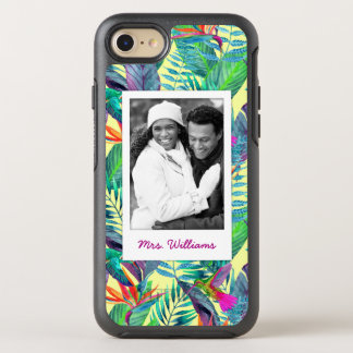 Hummingbirds In Jungle | Add Your Photo & Name OtterBox Symmetry iPhone 8/7 Case