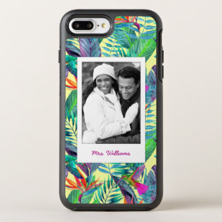 Hummingbirds In Jungle | Add Your Photo & Name OtterBox Symmetry iPhone 8 Plus/7 Plus Case