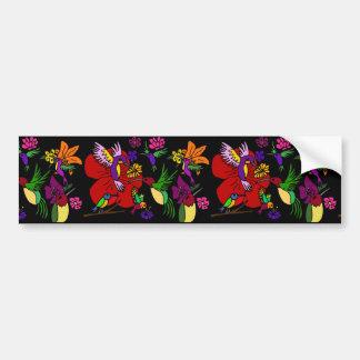 Hummingbirds in the Garden Bumper Sticker
