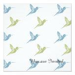 Hummingbirds 5.25x5.25 Square Paper Invitation Card