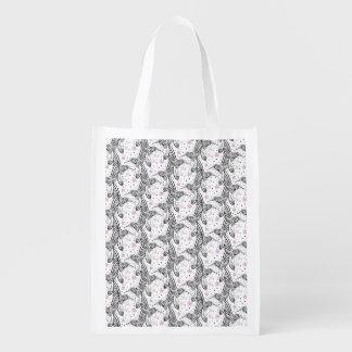 Hummingbirds IV Reusable Grocery Bag