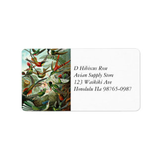 Hummingbirds Label