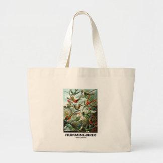 Hummingbirds Large Tote Bag