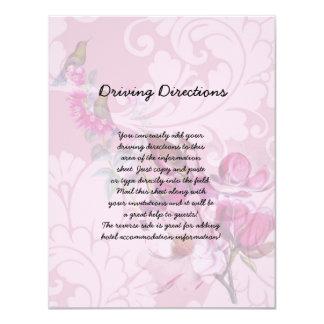 Hummingbirds Magnolias Informational Sheet 4.25x5.5 Paper Invitation Card
