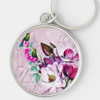 Hummingbirds Magnolias Keychain