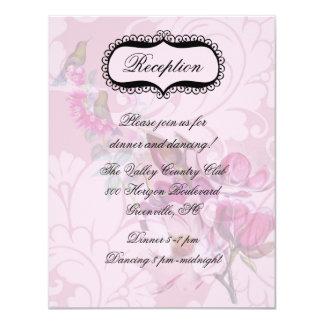 Hummingbirds Magnolias Reception Card