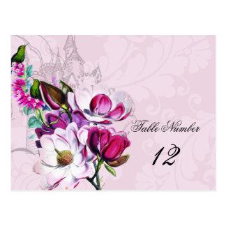 Hummingbirds Magnolias Table Number Postcard