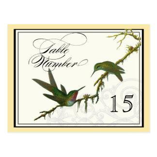 Hummingbirds n Swirls -  Table Placecard Numbers Postcard
