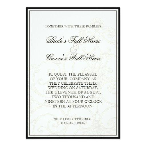 """Hummingbirds n Swirls  - Wedding Invitation 5"""" X 7"""" Invitation Card"""