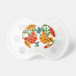 Hummingbirds on Trumpet Vine Baby Pacifier
