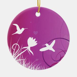 Hummingbirds Christmas Ornament