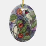 Hummingbirds Ornament by Mary Layton