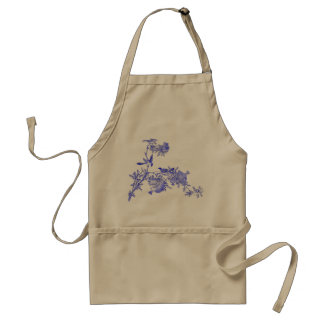 Hummingbirds Pair on Fruity Pomegranate Branches Adult Apron