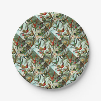Hummingbirds Paper Plate