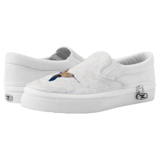 Hummingbirds Pastel Slip-On Sneakers
