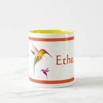 Hummingbirds Personalized Coffee Mug