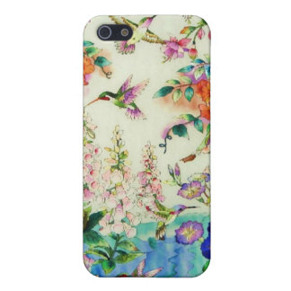 Hummingbirds Pink Flowers iPhone 4/4S Case WOW