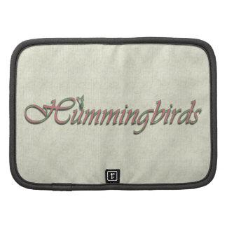 Hummingbirds Folio Planners