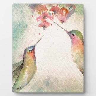 hummingbirds plaque